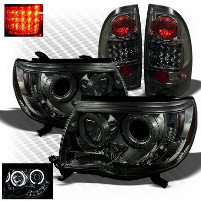 2011 Toyota Tacoma Smoked CCFL Halo Headlights and LED Tail Lights