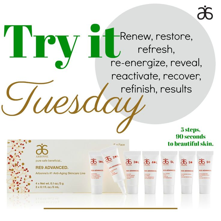 RE9 Advanced is formulated to address the biological and environmental signs of aging. With consistent use, RE9 helps to improve the appearance of skin firmness, elasticity and tone, minimize the appearance of fine lines and wrinkles and improve hydration, helping skin look visibly rejuvenated and youthful. What have you got to lose? Comment below or message me to get a sample and experience the difference for yourself.