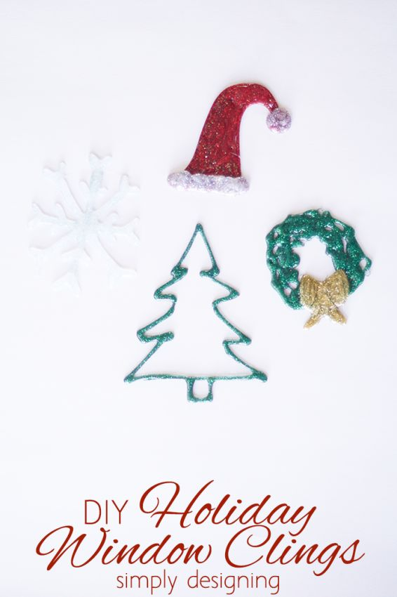 DIY Holiday Window Clings Craft by Simply Designing
