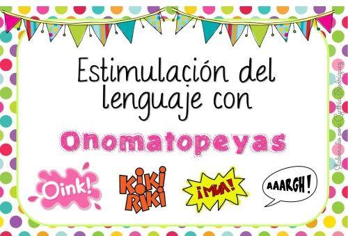 Estimulación del Lenguaje con Onomatopeyas en Imágenes