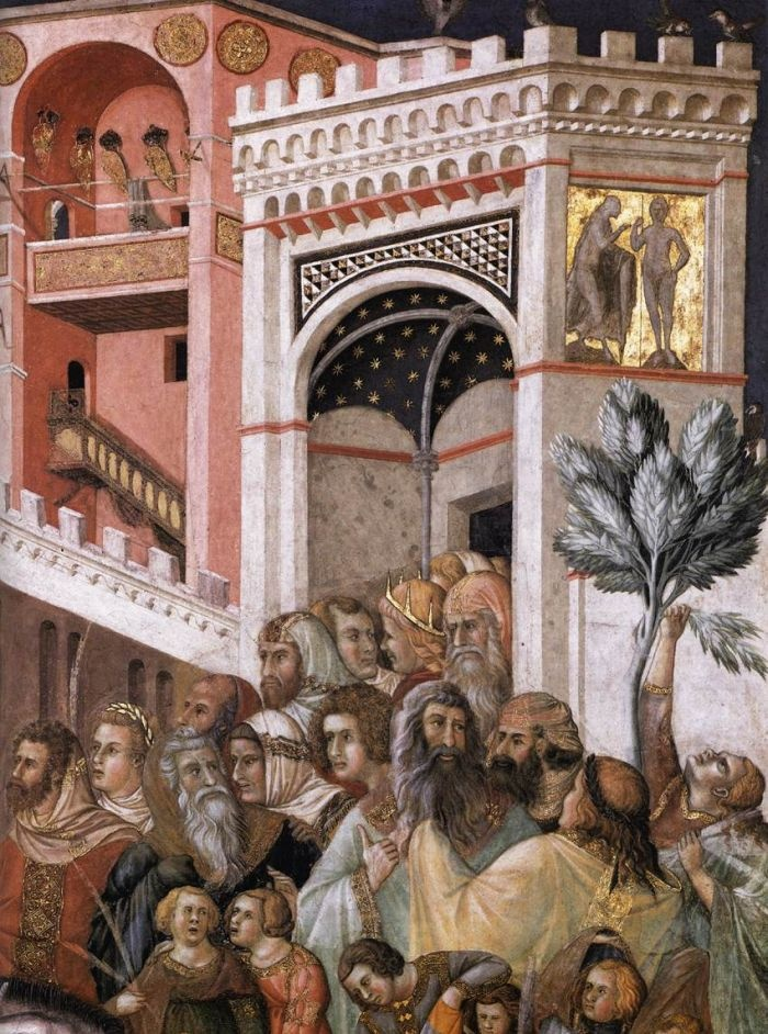 Entry of Christ into Jerusalem (detail) by LORENZETTI, Pietro #art