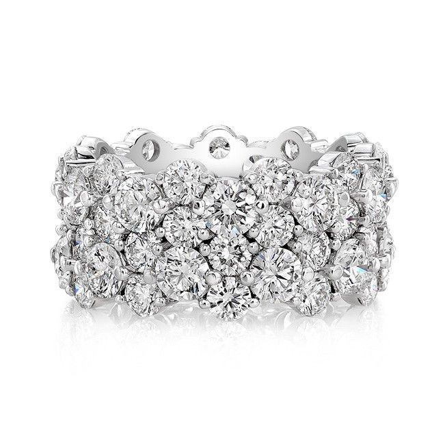 FM ETERNITY BAND - ETERNITY BAND WITH FOREVERMARK ROUND BRILLIANT DIAMONDS IN 18KT WHITE GOLD.