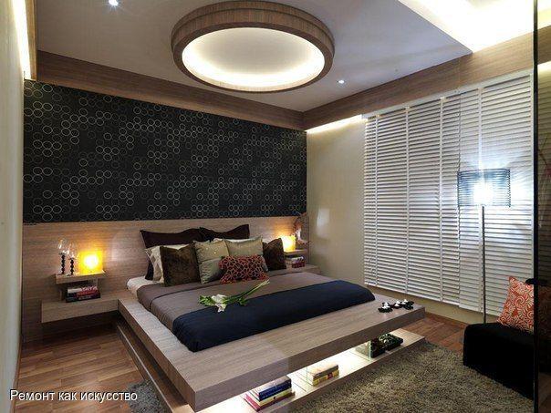 Спальня в современном японском стиле.