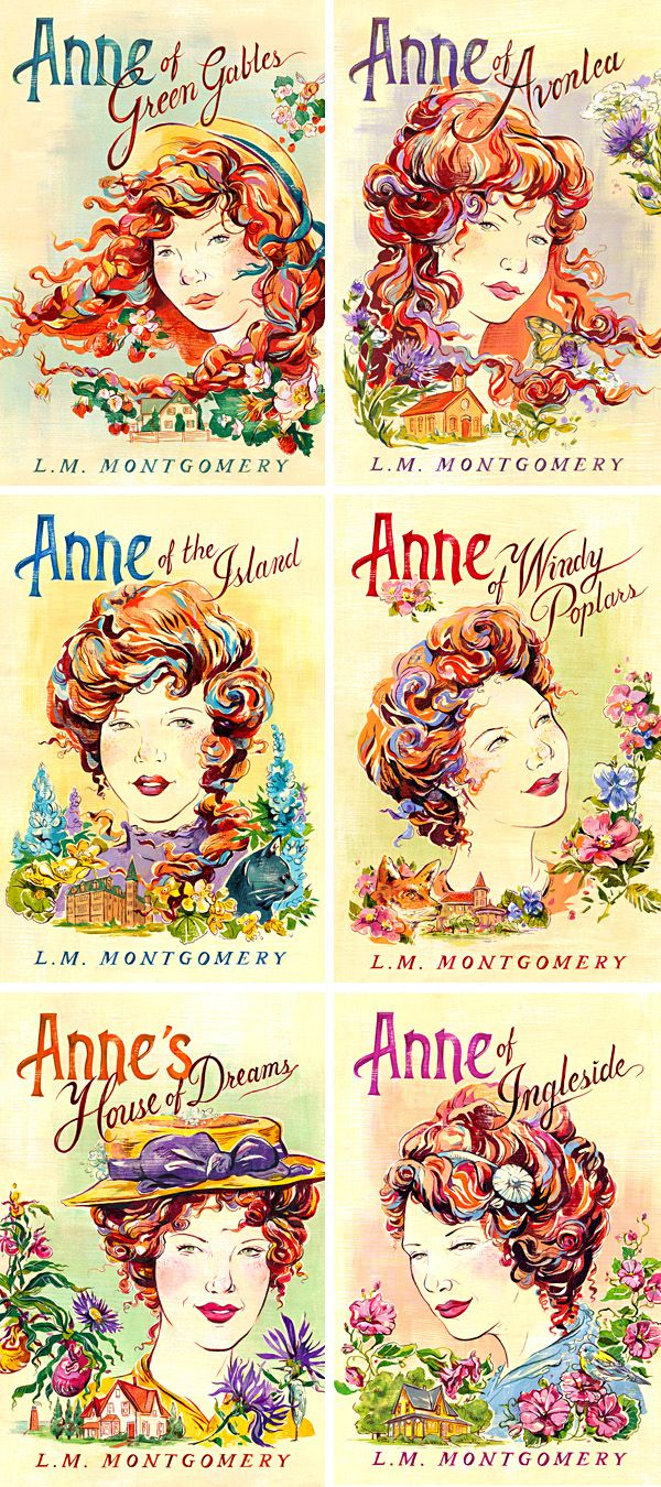 Anne of Green Gables - Book Covers - Jacqui Oakley Illustration. So much gorgeousness!