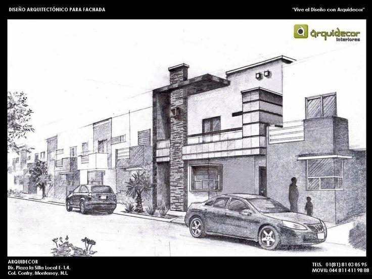 Dise o de fachada casa sosa dise o por arq h ctor ch vez for Casas en 2d