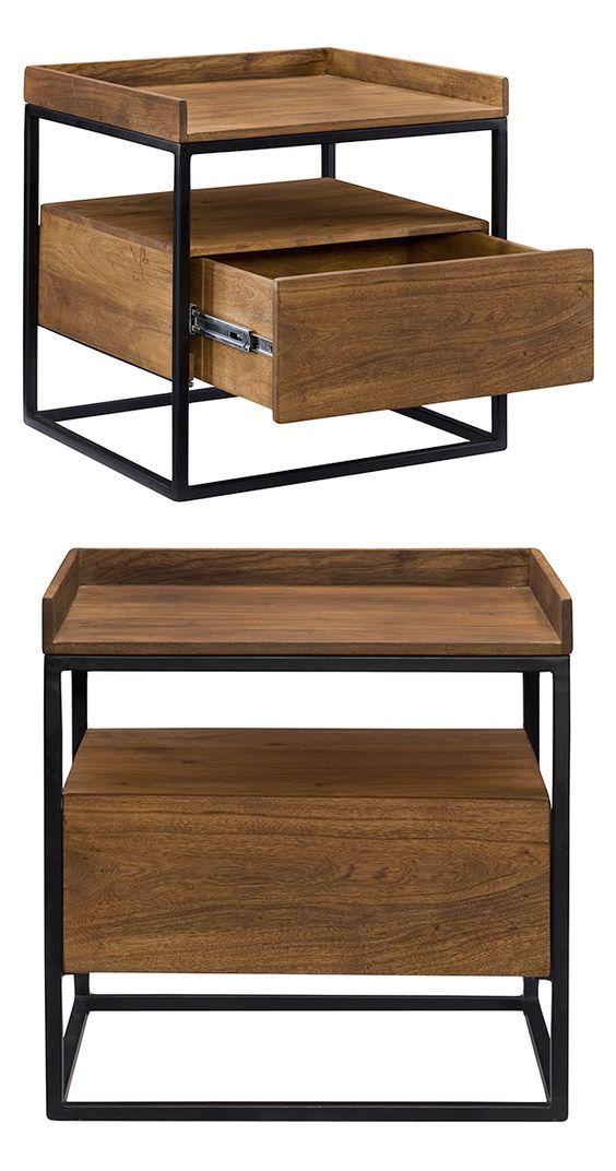 Wood and metal wood and metal en 2019 muebles for Muebles industriales metal baratos