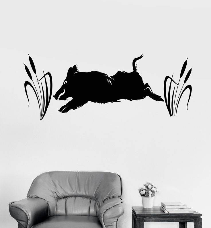 Vinyl Wall Decal Wild Boar Hunting Shop Hunter Stickers Murals (ig4670) http://riflescopescenter.com/category/nikon-riflescope-reviews/