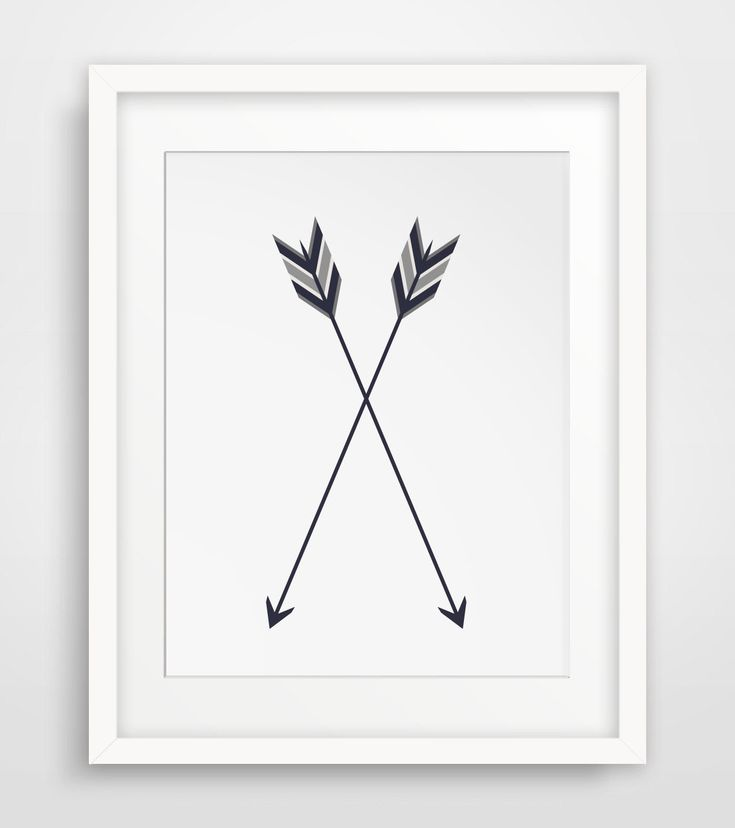 Arrow Print Two Arrows Crossed Arrow Wall by MelindaWoodDesigns