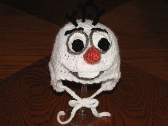 Crochet Olaf Hat Inspired by Disney's by CreativeCrochetbyBAS