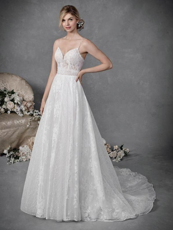 Ella Rosa Size 8 Be5052 Ivory Ivory Silver Gown Ball Gown
