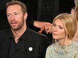 Split!  By the looks of Chris Martin and wife Gwyneth Paltrow on January 12th at the Golden Globes, we should have known this split was coming!!  Troubled tune: Chris Martin appeared to drop a huge hint that things weren't going too well between him and Gwyneth Paltrow in January 2013 when he revealed his favourite Rolling Stones song was She's So Cold