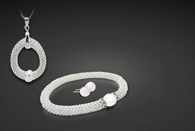 Vintage Pearl Bracelet or Tri Set