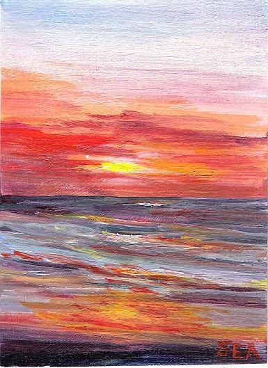 Sea Dean - Paint a Masterpiece: SOUTHERN SUNRISE ACEO
