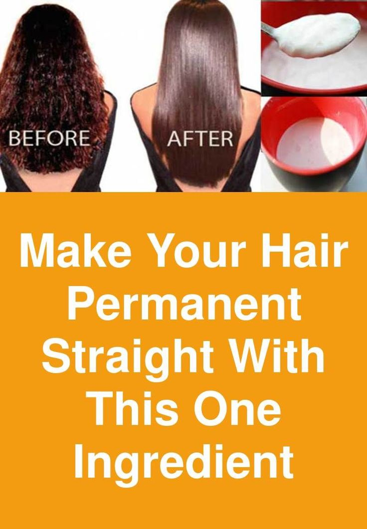 Make your hair permanent straight with this one ingredient