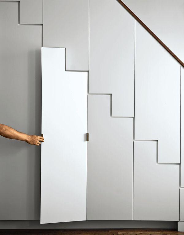 under the stairs: Stairca Storage, Storage Spaces, Idea, Under Stairs Storage, Apartment, Stair Storage, House, Closet, Modern Design