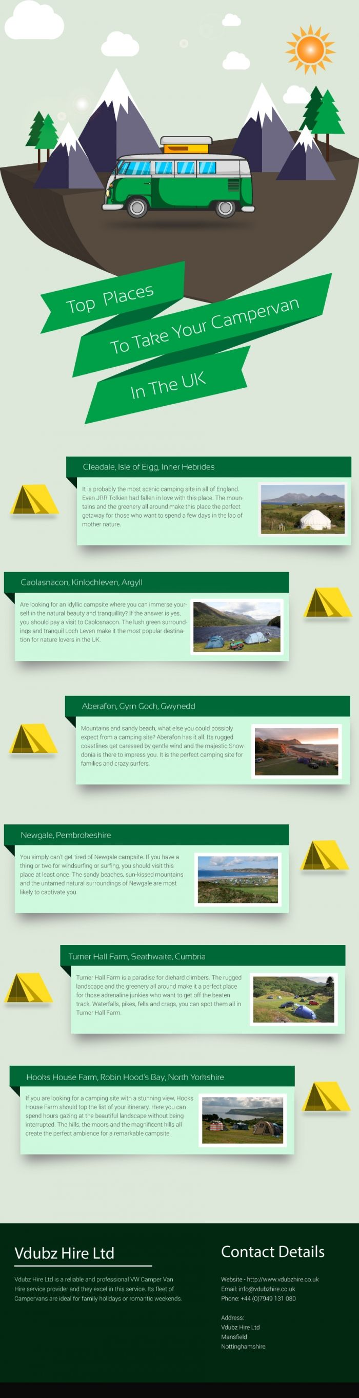 Six Popular Sites Where You Need to Take Your Campervan #Infographics