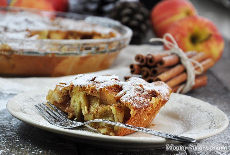 Пирог с карамелизированными яблоками - Mom Story