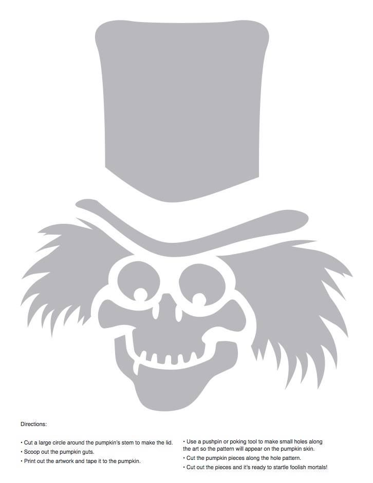 Haunted Mansion ghost pumpkin carving stencils! Via the Walt Disney World annual passholder page.