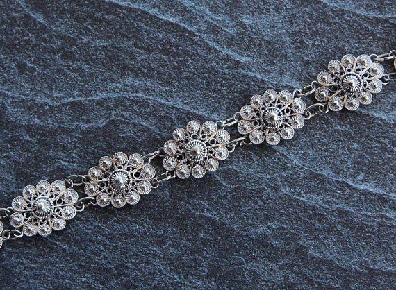 Filigree bracelet  Silver bracelet for women Filigree jewelry