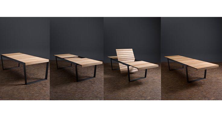 Table  à rallonge outdoor Spinacker  Dim:180/335x102xH74cm  6690€ -50% > 3345€  Loft Cannes!