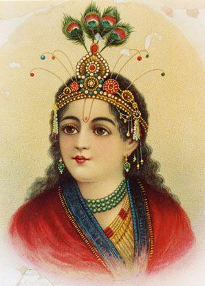 Krishna Painting; Artist: Raja Ravi Varma