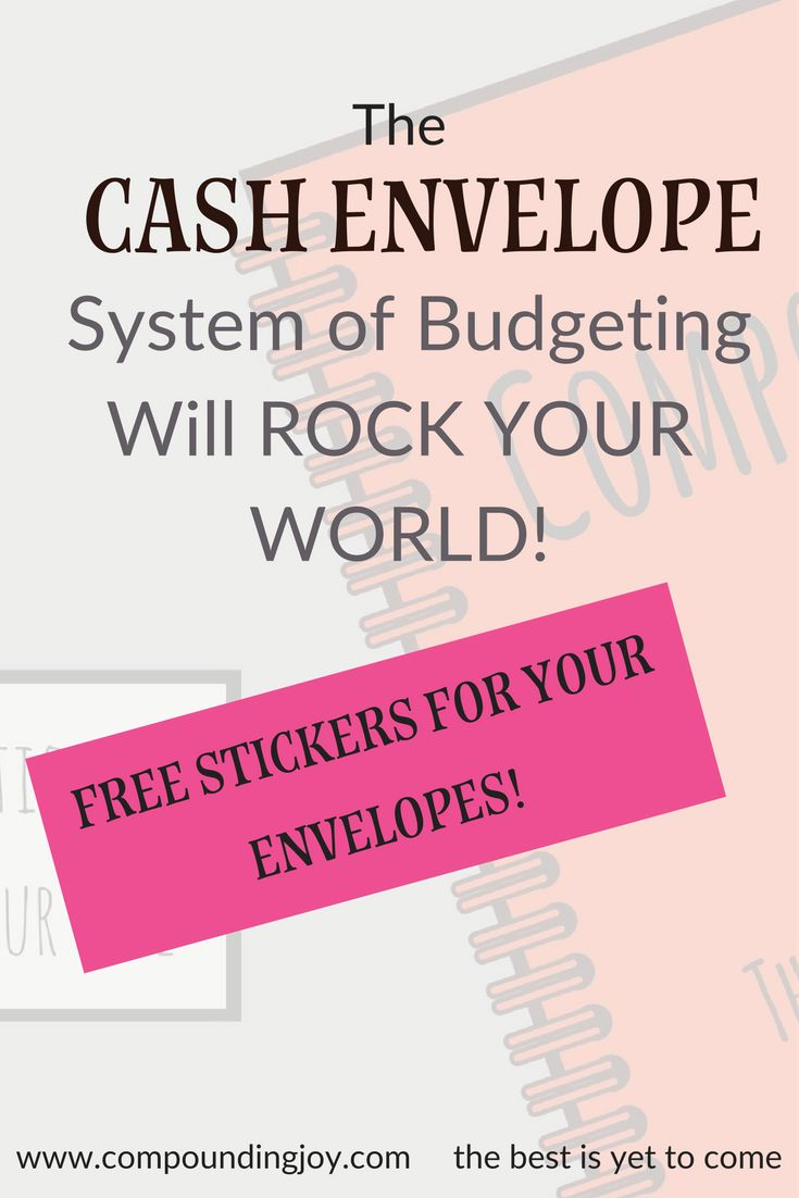 The Cash Envelope System of Budgeting will ROCK YOUR WORLD! It is simple, easy to stick to - download free sticker templates here to put on your envelopes!