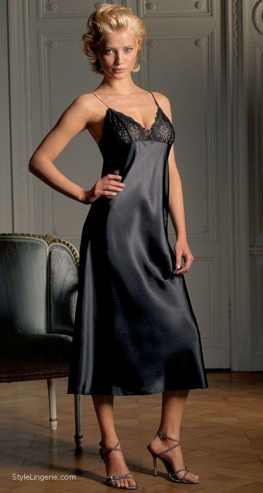 image New liquid satin long night dress