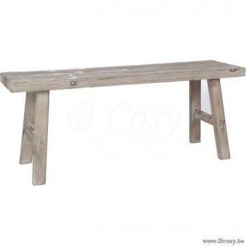 J-Line Landelijk houten rechthoekig Bankje in Hout Naturel 100 Jline-by-Jolipa-72022