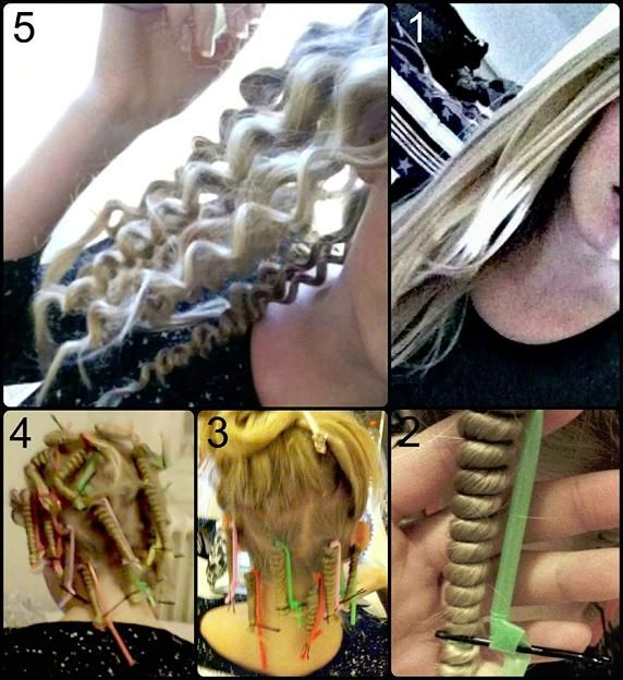 straw curls. I need someone with long hair to try this on!