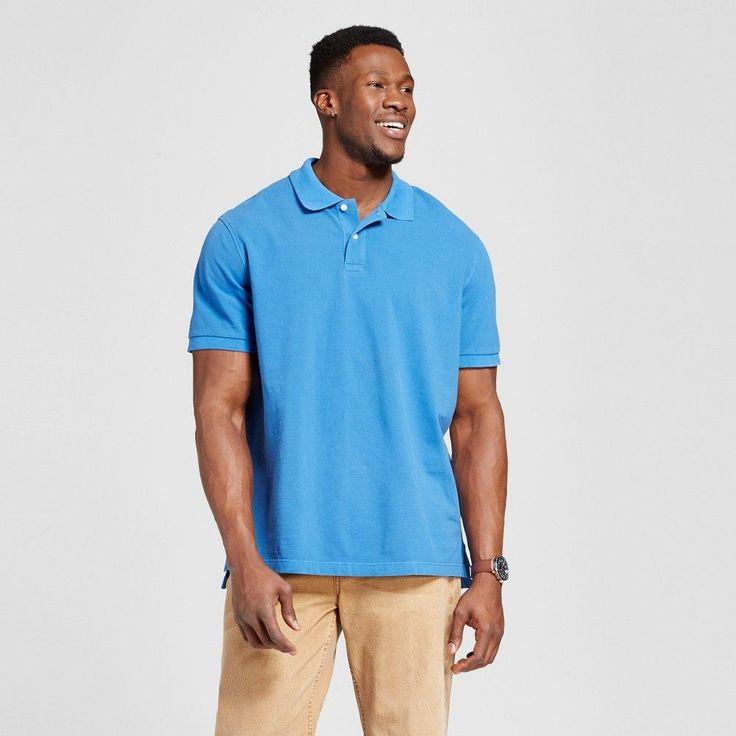 Men's Big & Tall Polo Blue M Tall - Merona, Shirts & Tops