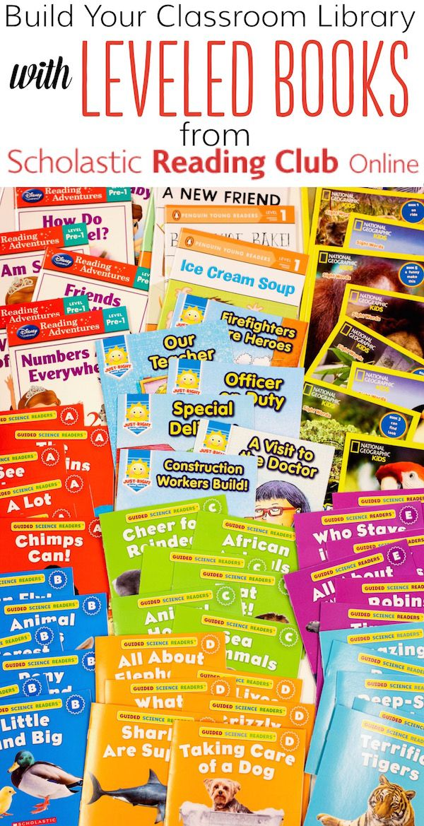 LEVELED BOOKS from Scholastic Reading Club