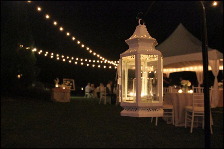 colored tent lights for a wedding | Wedding Tent Lighting Ideas | Wedding String Lights | Reception Lights