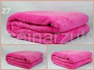 Koce z mikrofibry 160x210 koloru różowego