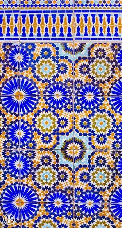 Typical Moroccan Zellij geometries. #Zellij #Patterns.