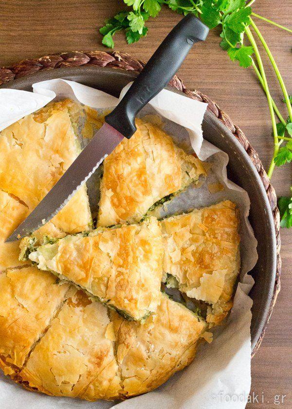 Classic Greek Spinach and Feta Pie (Spanakopita) | foodaki.gr