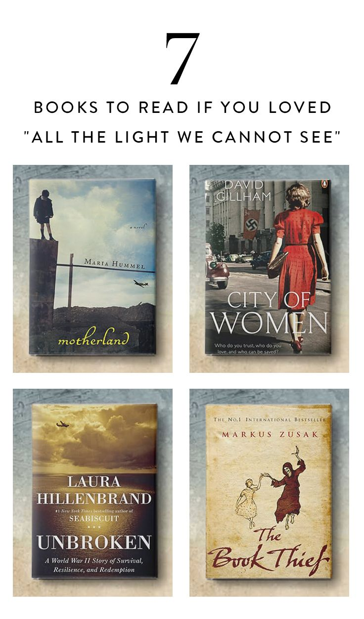 Anthony Doerr's Pulitzer Prize winning novel, All theLight We Cannot See, was hands down one of our favorite reads in recent years. If you loved the story of two teenagers on opposite sides of World War II whose lives become unexpectedly linked, you'll love these books, too.