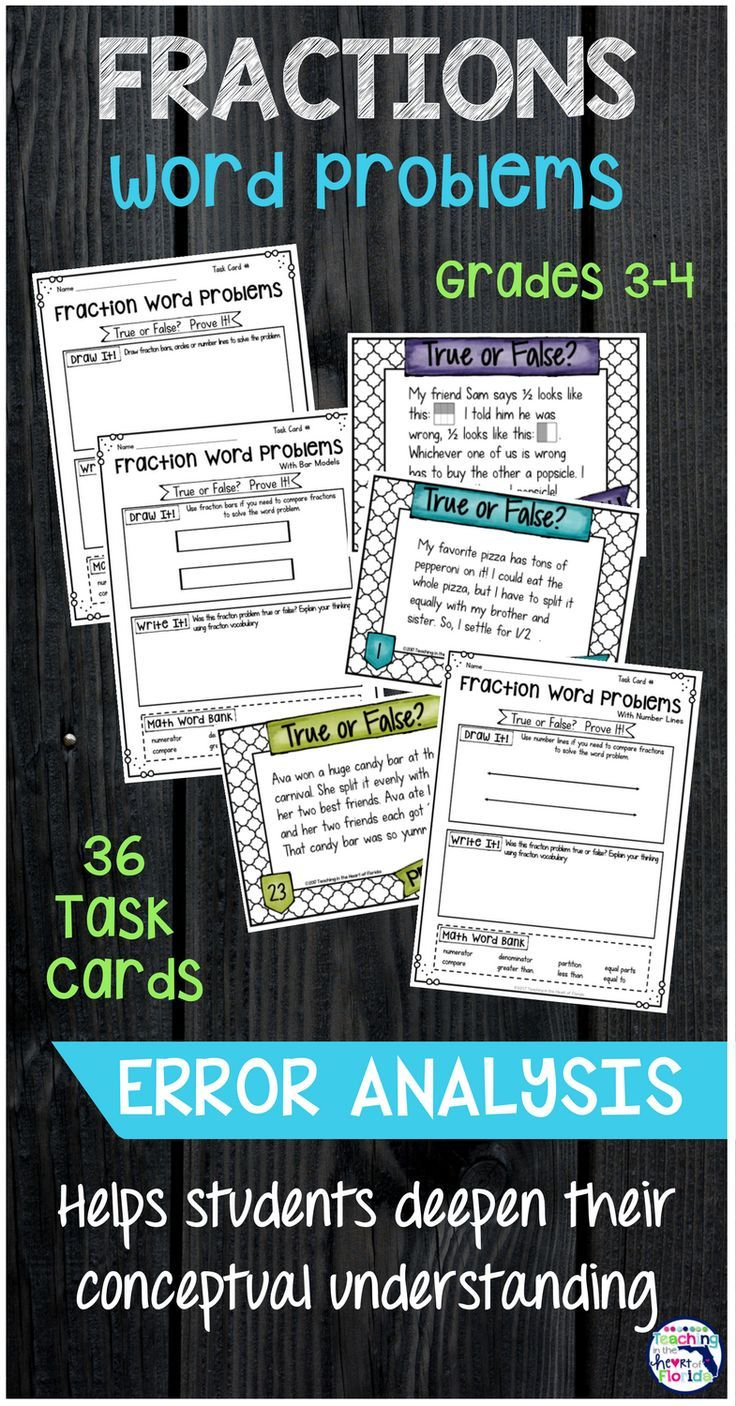 Do your students struggle to understand fractions on a deeper level? Error analysis is a valuable way to help them practice with fraction word problems and master the concept. The error analysis worksheet gives them the opportunity to visually represent the problem and space to explain their thinking. Click here to see more!