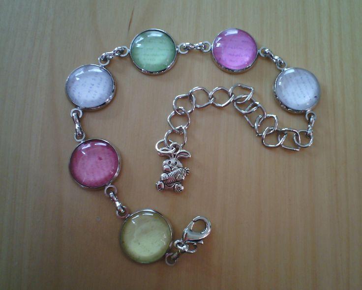 Armband aus 14mm Cabochons mit den Liebesbriefen von meinem Schatz ♥
