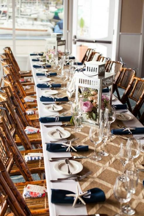 beachy, nautical wedding details