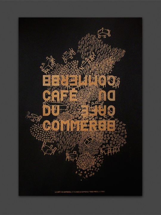 Delphine Dubuisson | Graphic Design | Le Café du Commerce