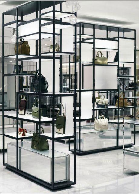 Display shelving by Yabu Pushelberg