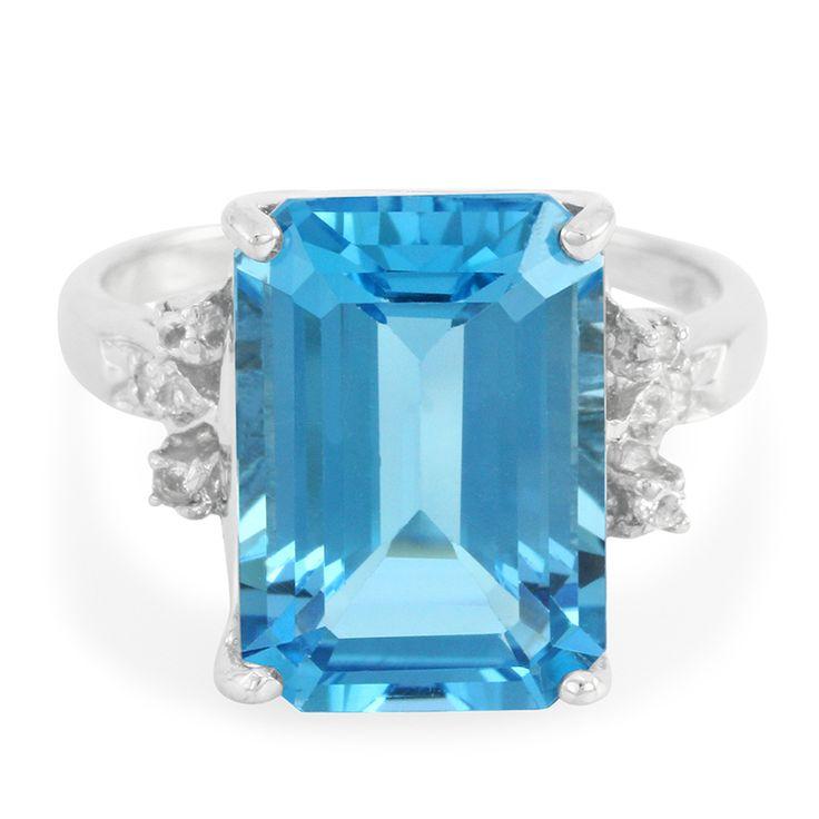 Bague en argent et Topaze bleu suisse - un bijou séduisant en direct du fabricant pour un prix doux. Avec certificat d'authenticité.