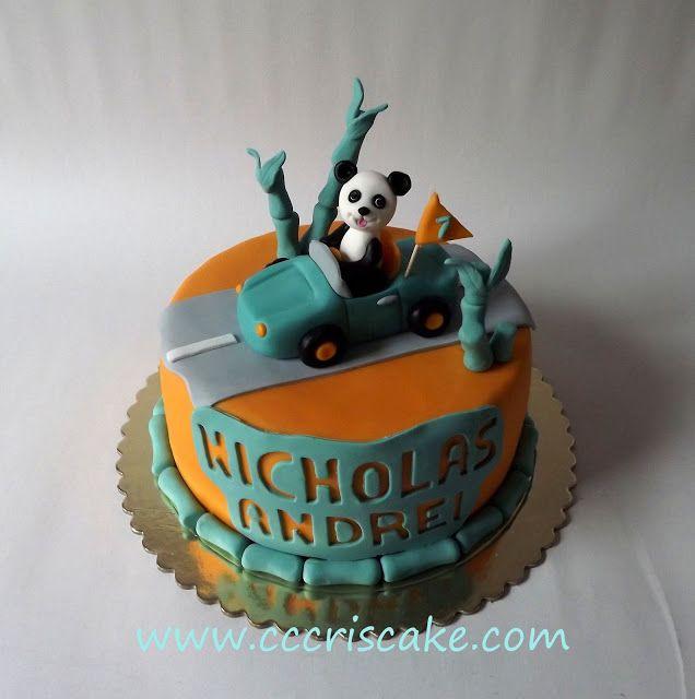 Torturi artistice: Panda with his car