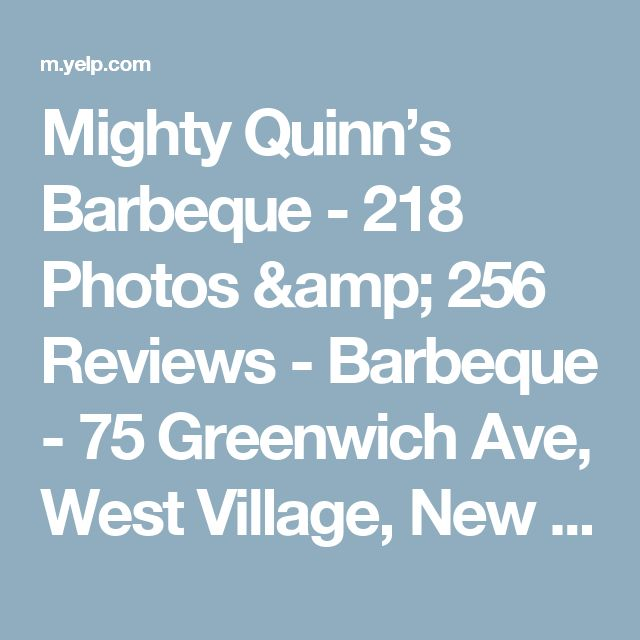 Mighty Quinn's Barbeque - 218 Photos & 256 Reviews - Barbeque - 75 Greenwich Ave, West Village, New York, NY - Restaurant Reviews - Phone Number - Menu - Yelp