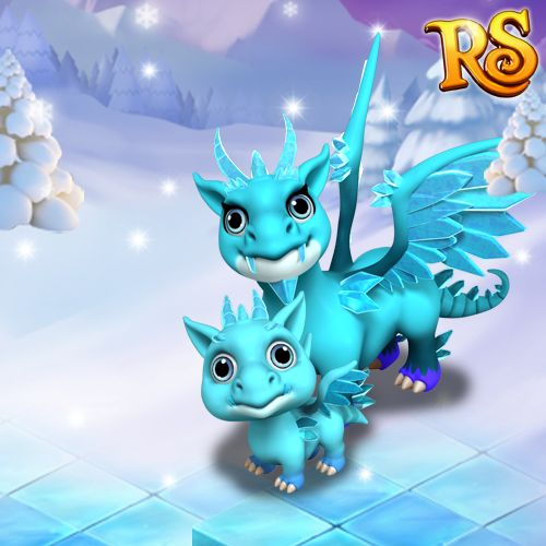 In case you've never seen an Ice Dragon before, here's what it looks like!  #royalstorygame #royalzoo