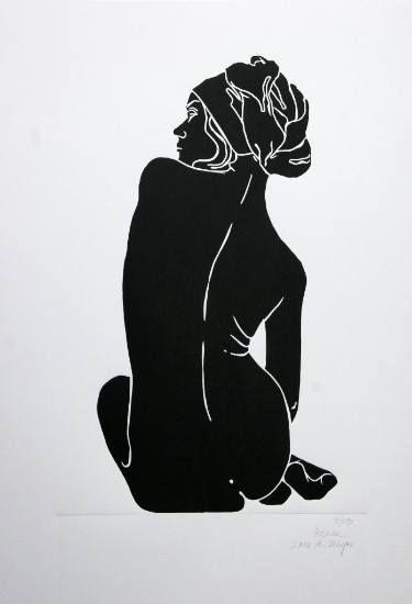 "Saatchi Art Artist A Weyer; Printmaking, ""Helene - Limited Edition 8 of 10"" #art"