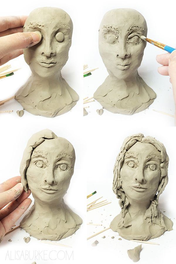 alisaburke- working with air dry clay