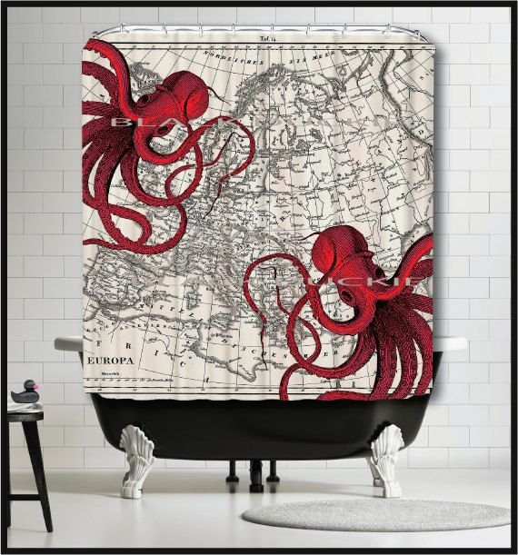 Perfect for our nautical lovers and their beachside cottages! We colored our octopus to a rapturous red and added a buddy to dance across an