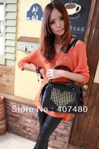 Find More Shoulder Bags Information about wholesale retail fashion black heart shaped rivet message shoulder bag Handbag sling totes Designer Lady girl's woman popular,High Quality handbag messenger,China handbag Suppliers, Cheap wholesale bags handbags from China Rui International Bags Trading Co., Ltd. on Aliexpress.com