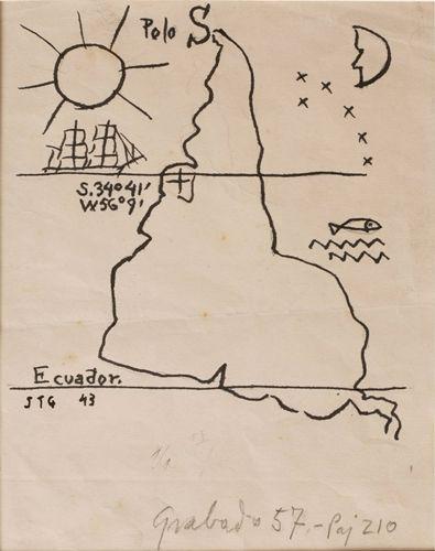 1943, Joaquín Torres García: América invertida. «....porque nuestro Norte, es esl Sur.» (JTG)